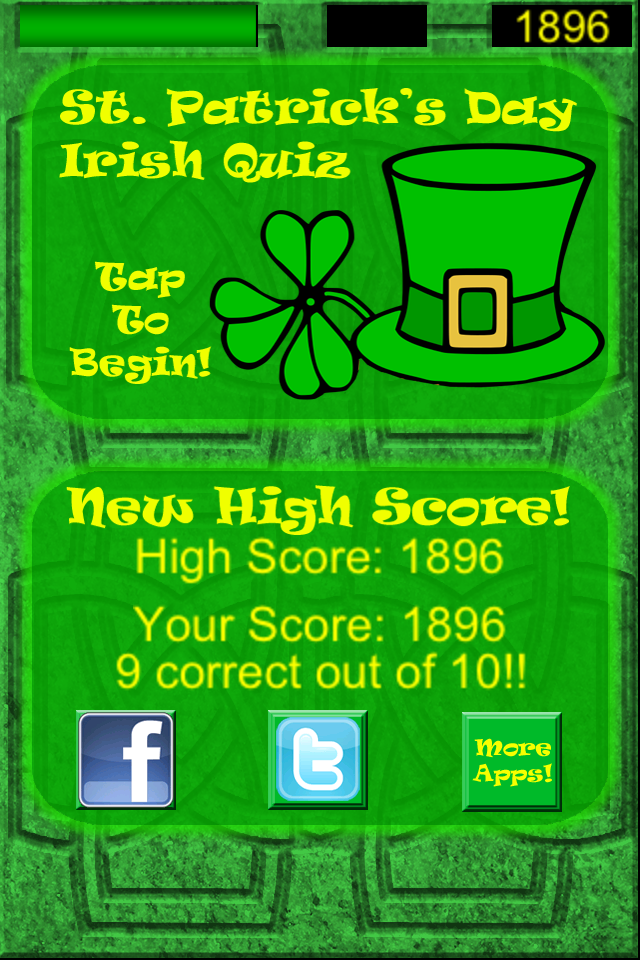 Screenshot St. Patrick's Day Irish Quiz Free